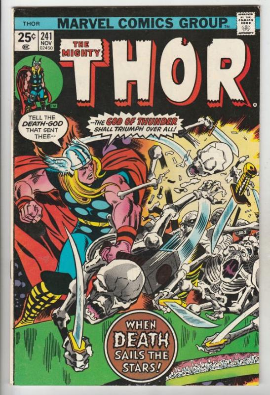 Thor, the Mighty #241 (Nov-75) FN/VF High-Grade Thor