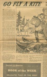HARRY WHITTINGTON STORY PAPER GO FLY A KITE JULY 7 1957-- VG