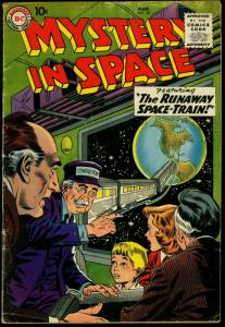 Mystery in Space #50 1959- DC Science Fiction Space Train G