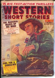 Western Short Stories  12/1955-Red Circle-rare end of run issue-Western pulp ...
