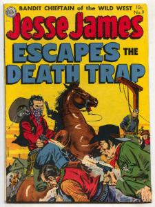 Jesse James #9 1952- Golden Age Western- Hanging cover F/VF