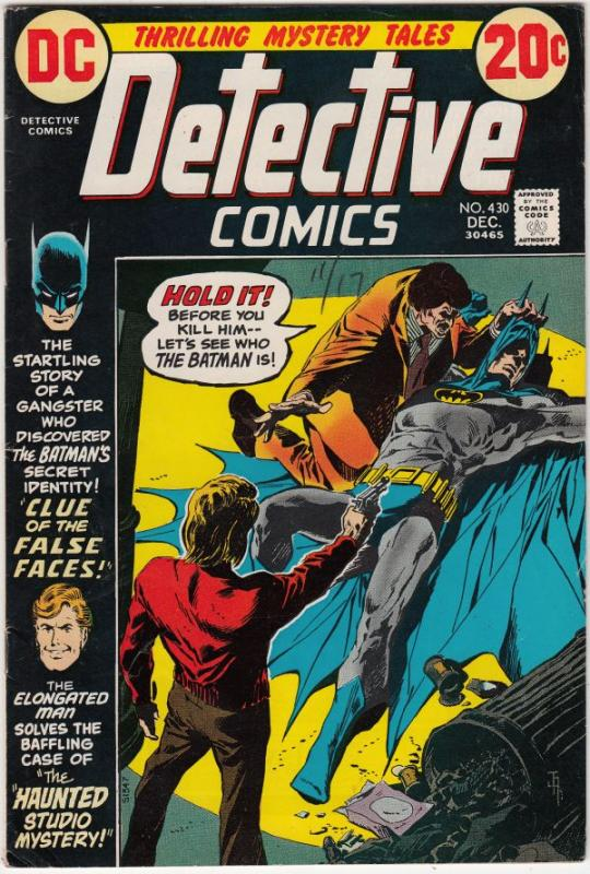 Detective Comics #430 (Dec-72) VF- High-Grade Batman