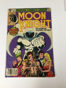 Moon Knight 1 5.0 Vg/fn Very Good / Fine Newsstand Edition Marvel
