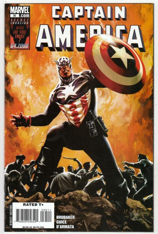 Captain America #35 (Apr-08) NM+ Super-High-Grade Captain America aka Bucky B...
