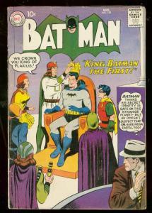 BATMAN #125 1959-DC COMIC-KING BATMAN I-BAT HOUND-ROBIN G/VG