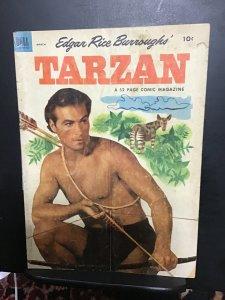Tarzan #42 (1953) Affordable-grade Barker photo cover key! VG+ Wow