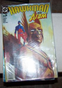 Hawkman #8 (Dec 2002, DC) and the atom pay palmer