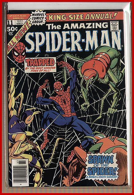 SPIDERMAN ANN 11 VF AUNT MAY HITS COP COMICS BOOK