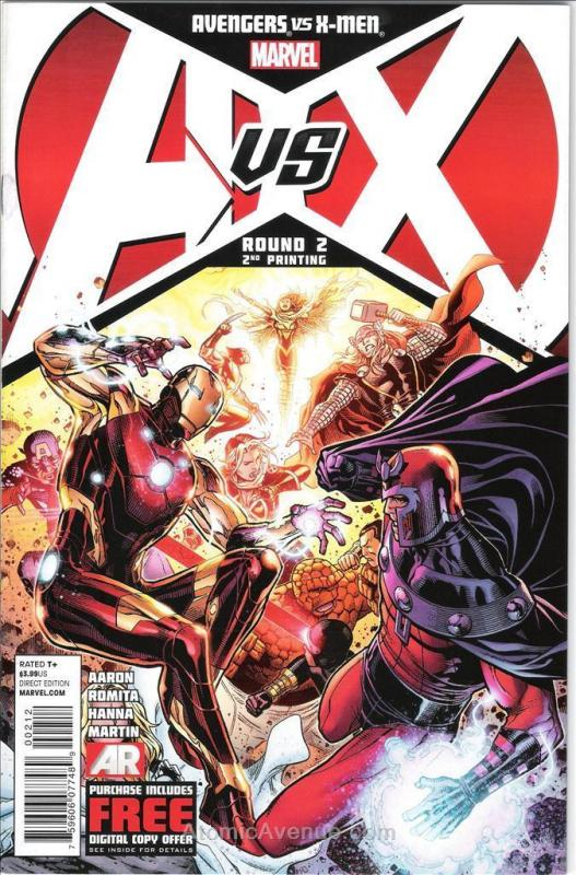 Avengers vs. X-Men #2 (2nd) VF; Marvel | combined shipping available - details i
