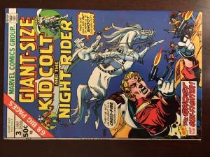 GIANT SIZE KID COLT OUTLAW #3 VF ! NIGHT RIDER! GLOSSY! CRISP!