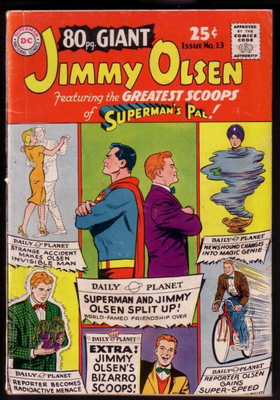 80 PAGE GIANT #13 1965-JIMMY OLSEN-BIZARRO-SUPERMAN-DC VG