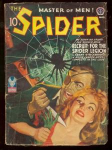 THE SPIDER MARCH 1943 WEIRD MENACE STOCKBRIDGE KNIFE VG