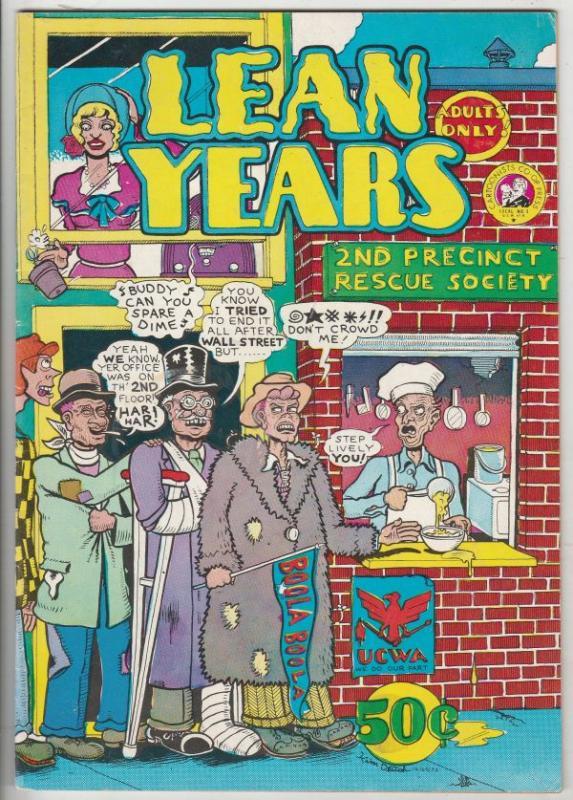 Lean Years #1 (Jan-74) VF+ High-Grade
