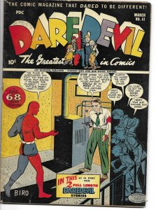 Daredevil Comics #41 Lev Gleason 1944 Charles Biro cover Dan Barry Golden Age