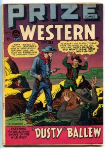 Prize Comics Western #71 1948- Dust Ballew VG/F