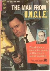 MAN FROM UNCLE (1965-1969 GOLD KEY) 3 VG- PHOTOCOVER: R COMICS BOOK