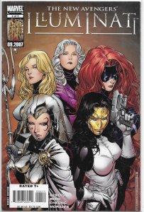 New Avengers: Illuminati (2007) #4 of 5 VG/FN Bendis/Cheung, Iron Man, Namor