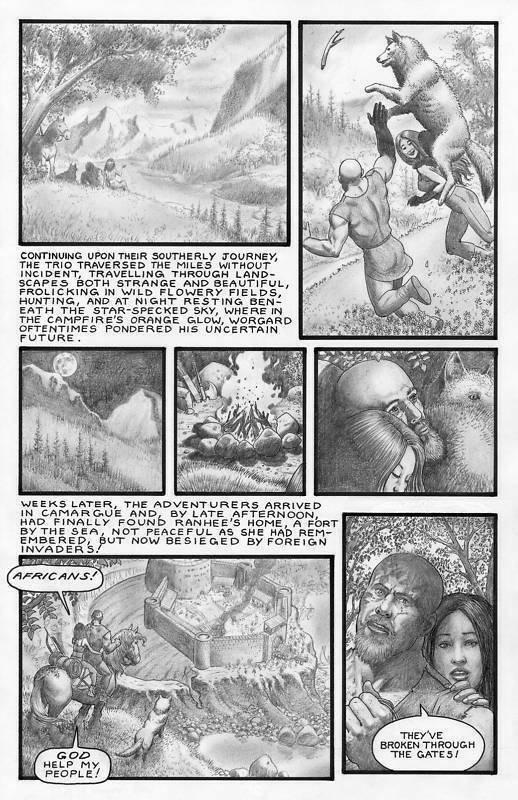 SEAN PATTY original art, WORGARD VIKING BERSERKER 1, 11x17, 2010, Battle, pg 17