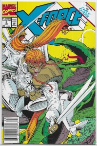 X-Force (vol. 1, 1991) #  6 (ns.) VG Nicieza/Liefeld, Sauron, Brotherhood