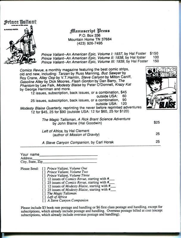 Comics Revue #134 1997-Romero-Steve Canyon-Phantom-Modesty Blaise-VF