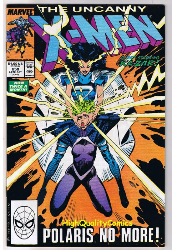 X-MEN #250, NM-, Wolverine, Chris Claremont, Uncanny, more in store