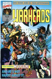 WARHEADS #1 2 3 4 5 6, VF/NM, 1992, 6 iss, Wolverine, more Marvel in store