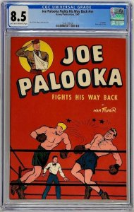 Joe Palooka Fights His Way Back Harvey 1945 CGC 8.5 Ham Fisher WWII Wounded Vets