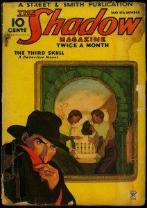 The Shadow Pulp May 15 1935- Skull cover- Third Skull FAIR
