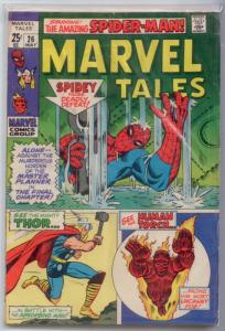 Marvel Tales #26 GD+ 2.5 [Water damage, o/w FINE] reprint Amazing Spider-Man #33