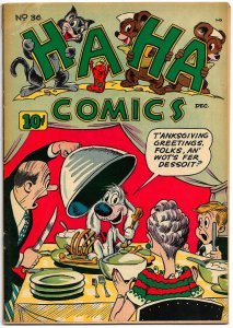 HA HA COMICS #36  (Dec 1946) 2.5 GD+  Al Hubbard! Dan Gordon! Bob Wick!