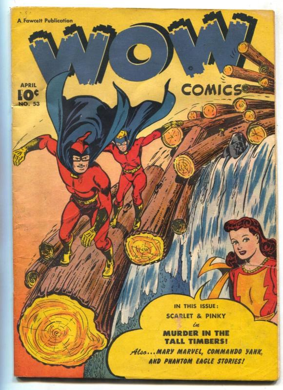 Wow Comics #53 1947- Mary Marvel -Mr Scarlet VG-