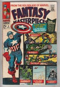 Fantasy Masterpieces #5 (Oct-66) FN/VF Mid-High-Grade Captain America, Bucky ...