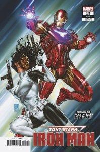 Tony Stark Iron Man #15 Brooks BOBG Variant (Marvel, 2019) NM
