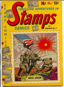 Stamps #3 1952-Youthful-Iwo Jima-Boy Scouts-Doug Wildey-American Flag-VG-