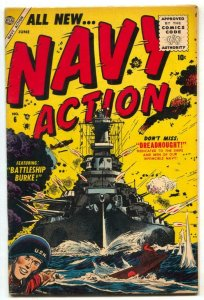 Navy Action #6 1955- Battleship Burke- USS New Jersey FN+