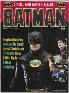 Batman Official Souvenir Magazine VG 1989 movie Keaton/Nicholson, Joker