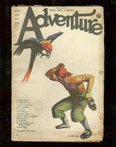 ADVENTURE PULP-6/10/23-PIRATE & PARROT CVR-85 YEARS OLD-rare very good VG