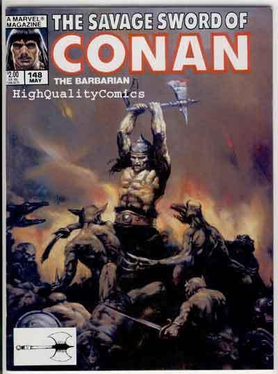 SAVAGE SWORD of CONAN #148, FN, King Kull, Beekman, more SSOC in store