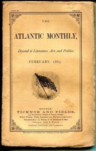 Atlantic Monthly 2/1865-pulp format-unique-rare-original American  flag cover-VG