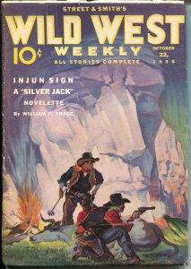 Wild West Weekly 10/20/1938-H W Scott-Whistlin' Kid Tommy Rockford-VG+