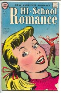 Hi-School Romance-#37 1955-cheerleader cover-Loneliest Girl In School-Bob Pow...