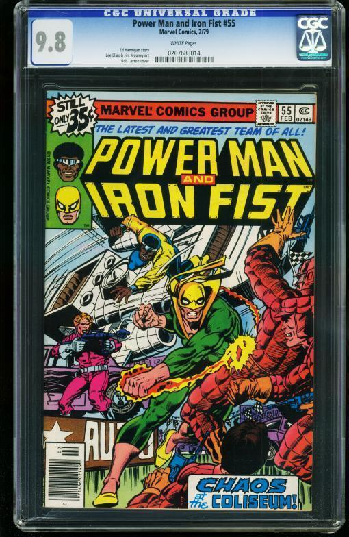 POWER MAN AND IRON FIST #55 1979- CGC GRADED 9.8 WHITE PAGES 0207683014