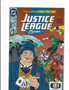 Lot of 8 Justice League Europe DC Comic Books #43 44 45 46 47 48 49 50 TW44