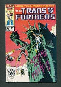 Transformers #23  / 8.5 VFN+   December 1986
