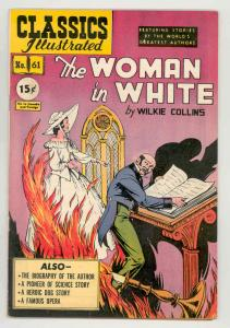 CLASSICS ILLUSTRATED #61 HRN 62 Woman In White-RARE VARIANT-HIGH GRADE VF/NM