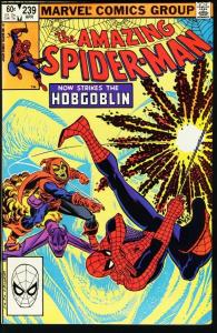 AMAZING SPIDER-MAN #239-1983-MARVEL-HOBGOBLIN VF