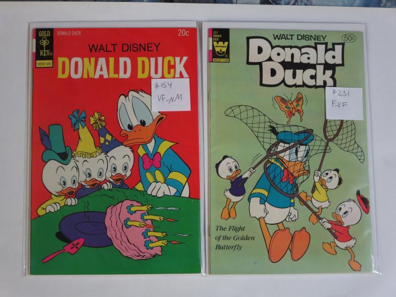 Donald Duck Gold Key #154 #231 Huey Duey and Louie Disney Comic Family Antics!