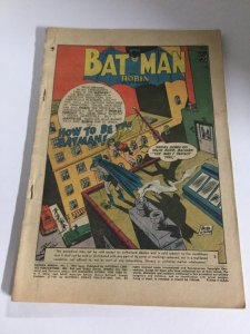Batman Annual 1 Coverless DC Comics Silver Age