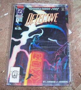 DETECTIVE COMICS ANNUAL # 4 1991  BATMAN- ROBIN DC JOKER TWO FACE RA'S AL GHUL