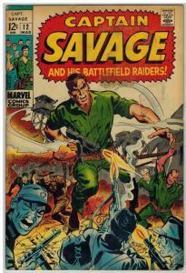 CAPTAIN SAVAGE (1968) 12 VG Mar. 1969 COMICS BOOK